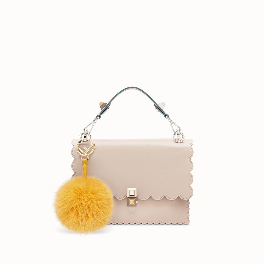 FENDI POM-POM CHARM - in yellow fur - view 2 detail