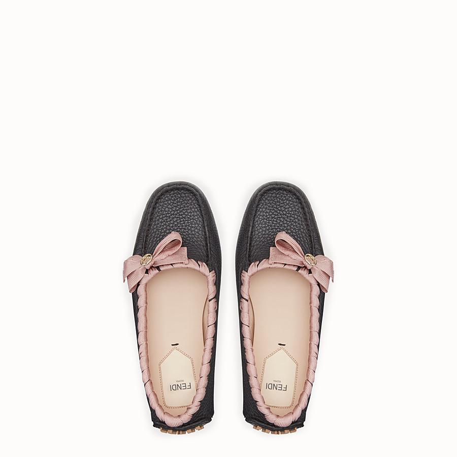 FENDI 駕車鞋 - 黑色皮革駕車鞋 - view 4 detail