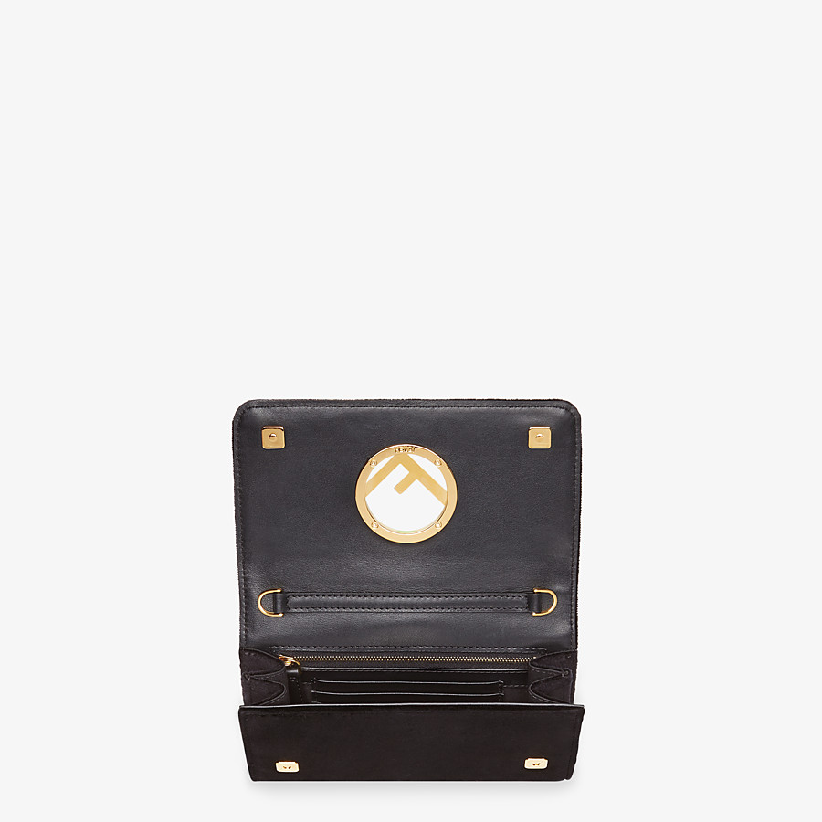 FENDI WALLET ON CHAIN - Black velvet mini-bag - view 4 detail