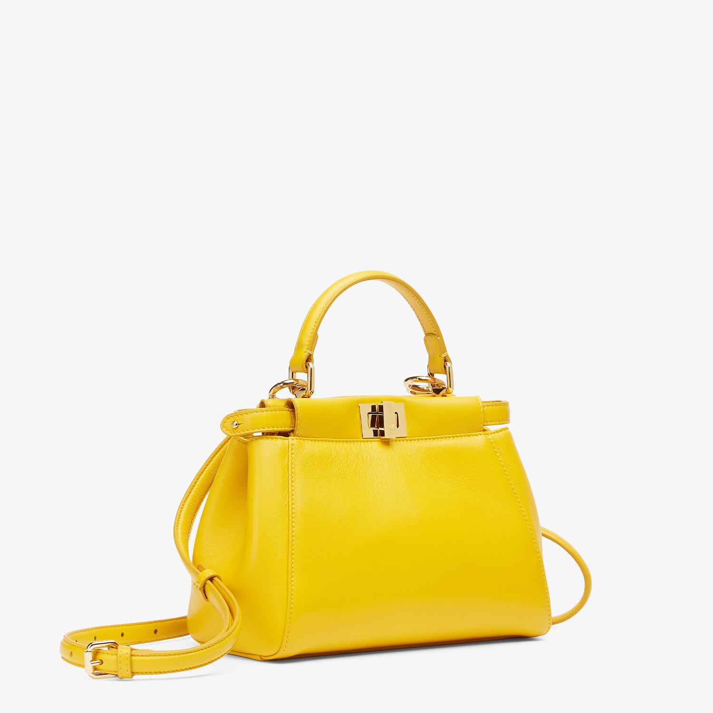 FENDI PEEKABOO ICONIC MINI - Yellow nappa leather bag - view 3 detail