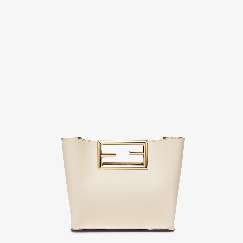 FENDI FENDI WAY SMALL - White leather bag - view 3 detail