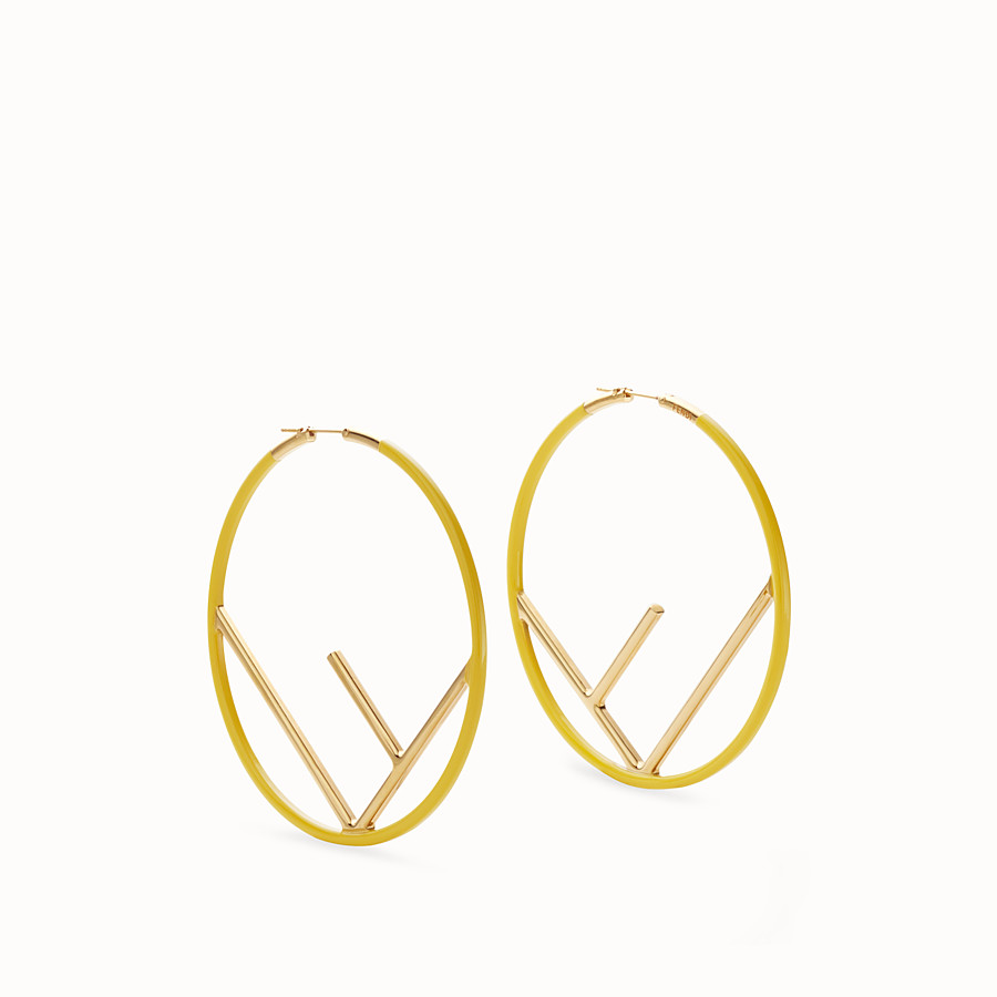 FENDI F IS FENDI EARRINGS - Gold and yellow coloured earrings - view 1 detail