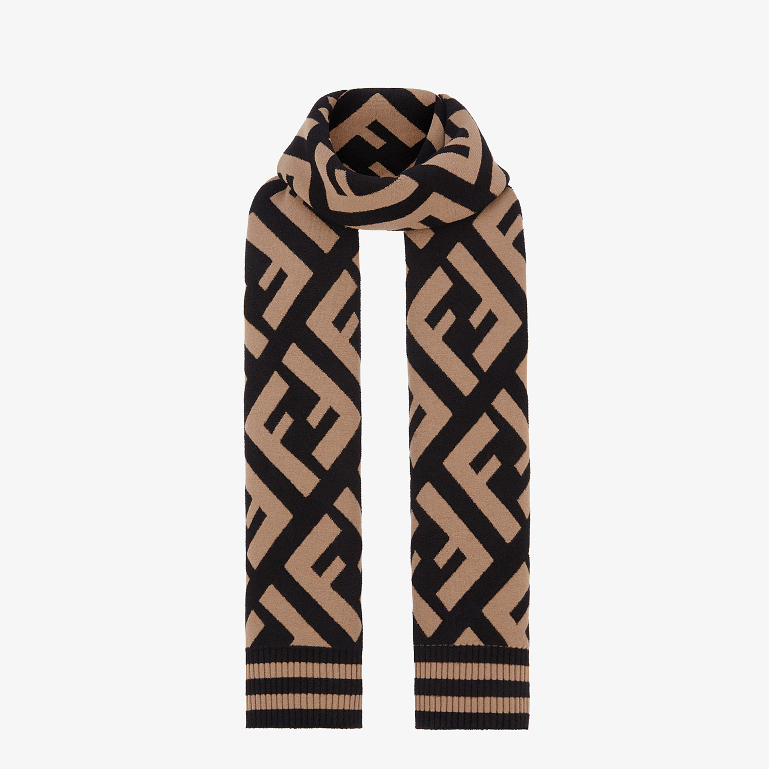 FENDI FF SCARF - Multicolor wool and viscose shawl - view 2 detail