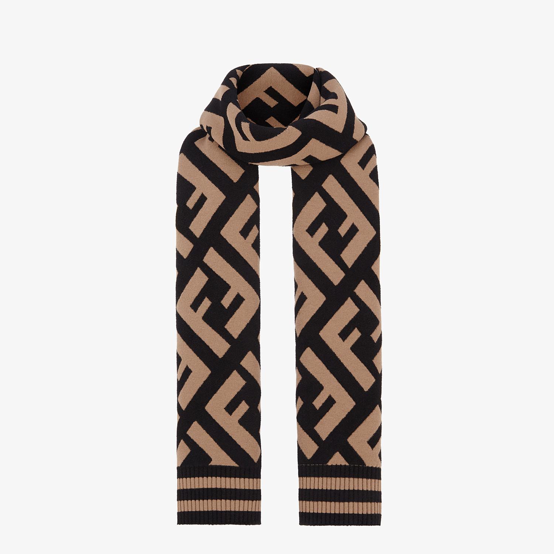 FENDI FF SCARF - Multicolour wool and viscose shawl - view 2 detail