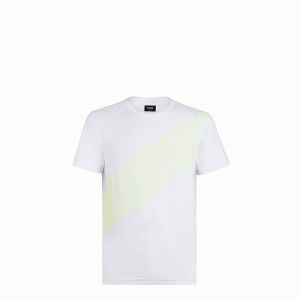 FENDI T-SHIRT - White cotton jersey T-shirt - view 1 small thumbnail
