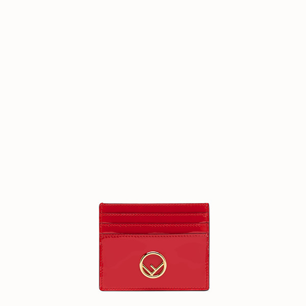 FENDI CARD HOLDER - Flat card holder in red patent leather - view 1 small thumbnail