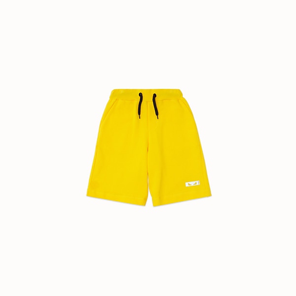 FENDI BERMUDAS - Yellow cotton Bermudas - view 1 small thumbnail