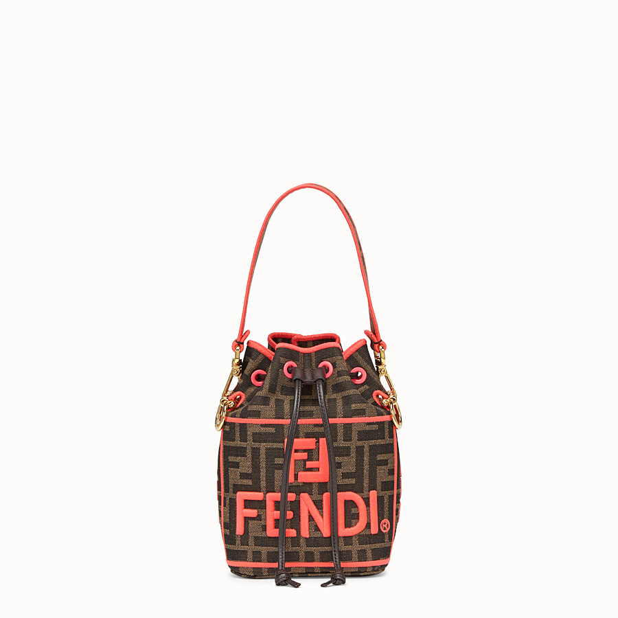 FENDI MON TRESOR - Fendi Roma Amor fabric mini-bag - view 1 detail