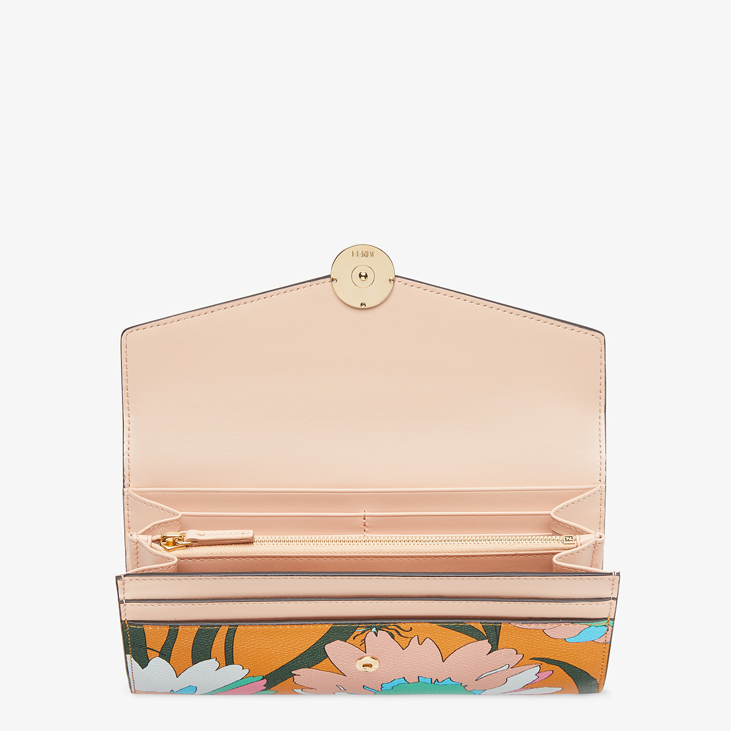FENDI CONTINENTAL - Multicolor leather wallet - view 3 detail