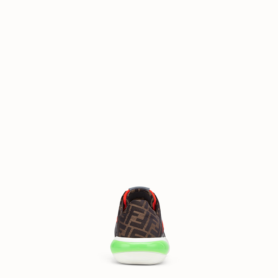 FENDI SNEAKERS - Red tech fabric low-tops - view 3 detail