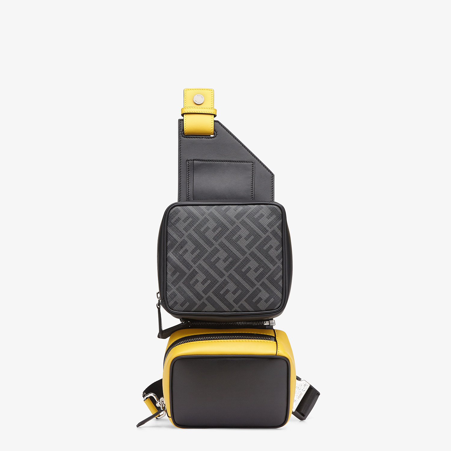FENDI BACKPACK - Black leather backpack - view 1 detail