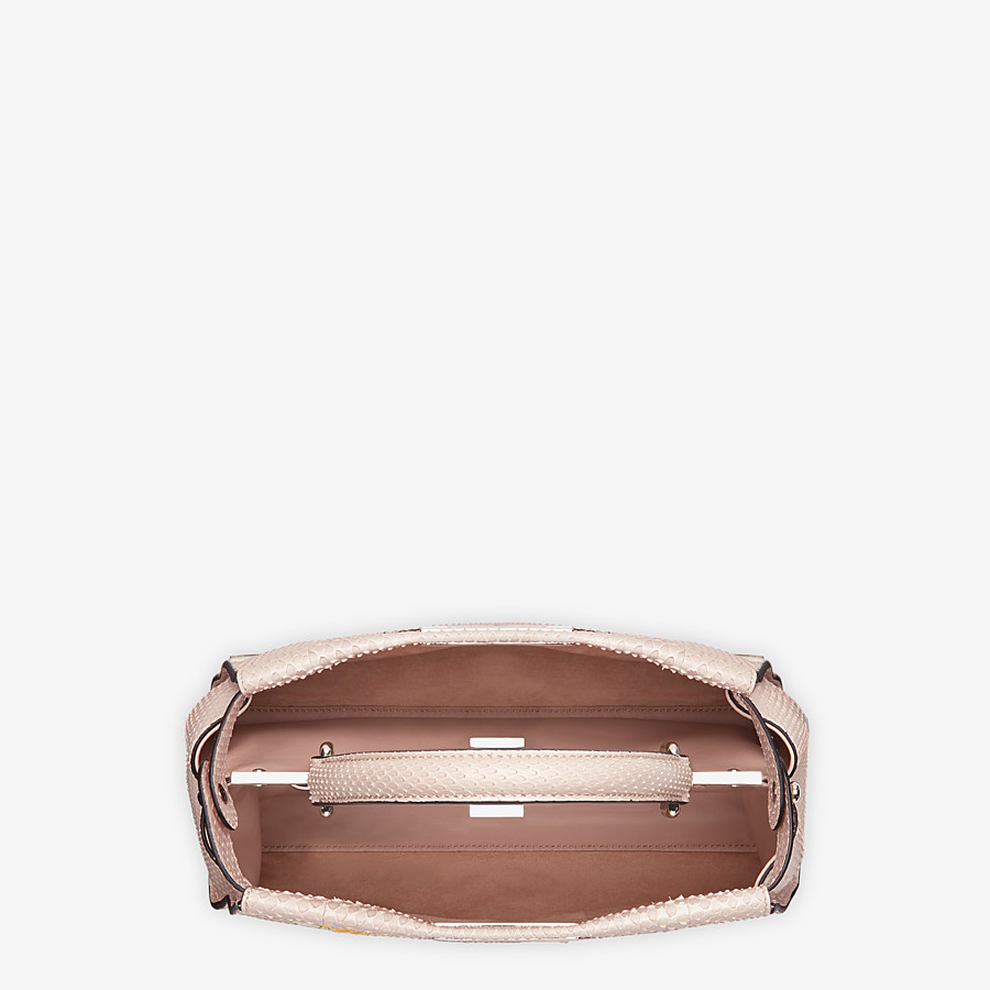 FENDI PEEKABOO ICONIC MEDIUM - Pink python leather bag - view 4 detail