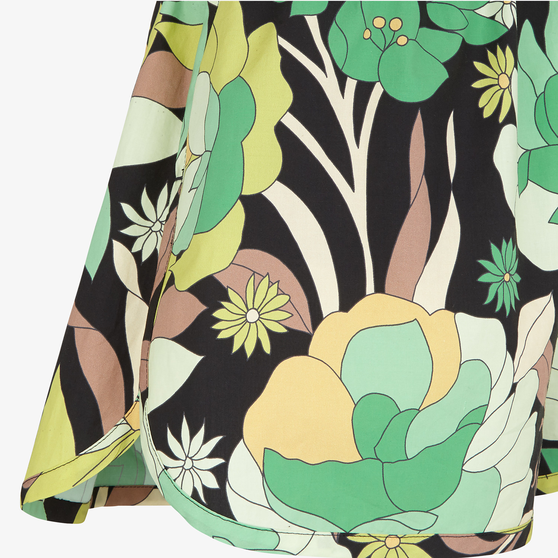 FENDI SHORTS - Multicolour cotton shorts - view 3 detail