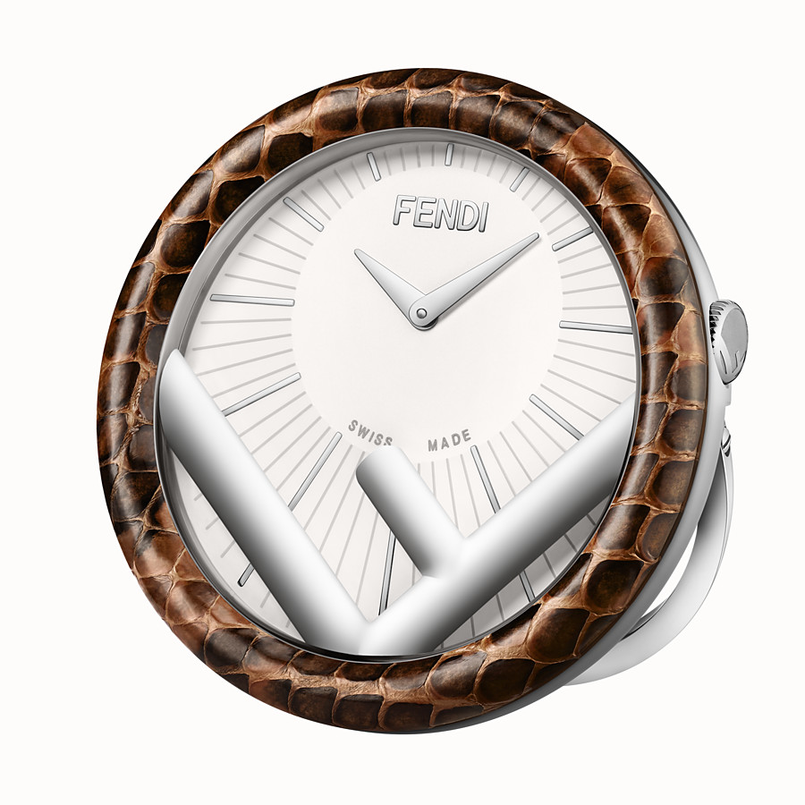FENDI RUN AWAY TABLE CLOCK - 60 mm - Table Clock with F is Fendi logo - view 1 detail