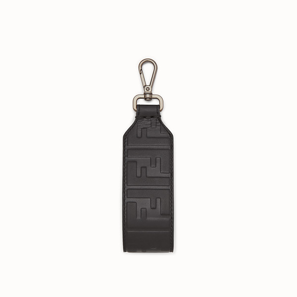 FENDI KEYRING - Black leather key ring - view 1 small thumbnail