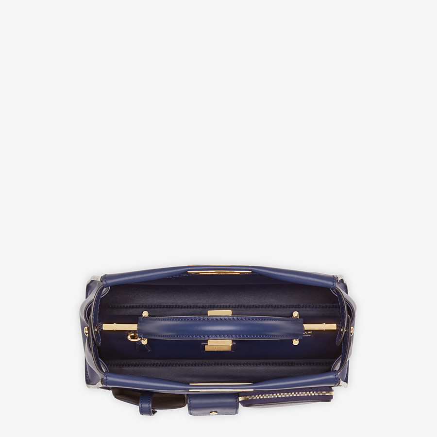 FENDI PEEKABOO ICONIC MEDIUM - Blue leather bag - view 5 detail