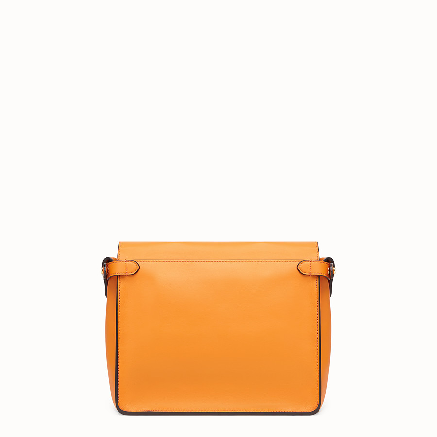 FENDI FENDI FLIP REGULAR - Orange leather bag - view 4 detail