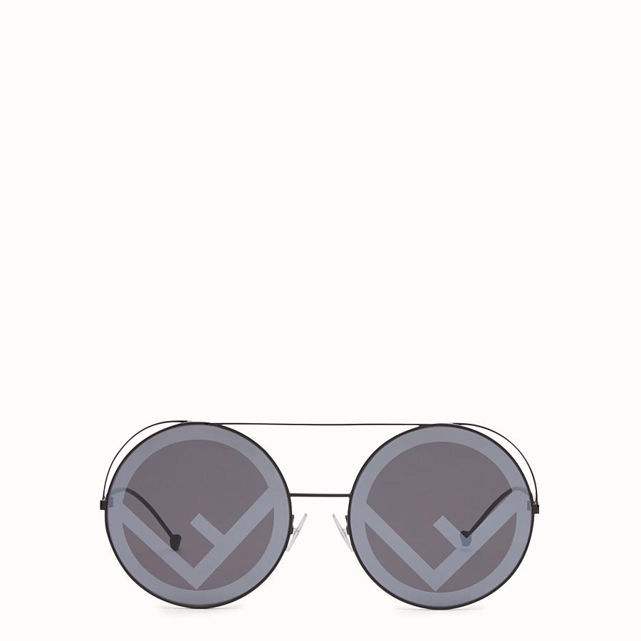 FENDI RUN AWAY - Black AW17 Runway sunglasses. - view 1 detail