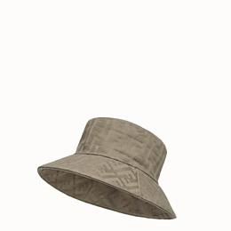 FENDI HAT - Beige canvas bucket hat - view 1 thumbnail