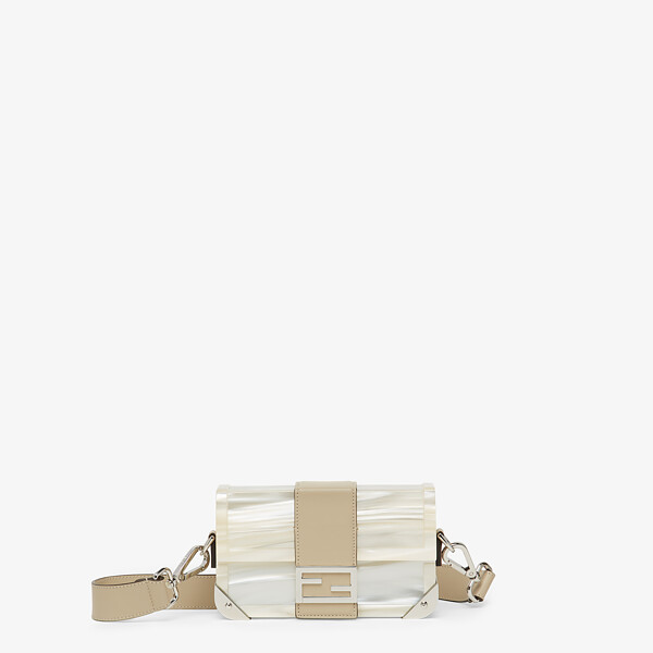 Mother of pearl plexiglass bag