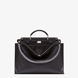 FENDI PEEKABOO ICONIC ESSENTIAL - Black leather bag - view 1 thumbnail