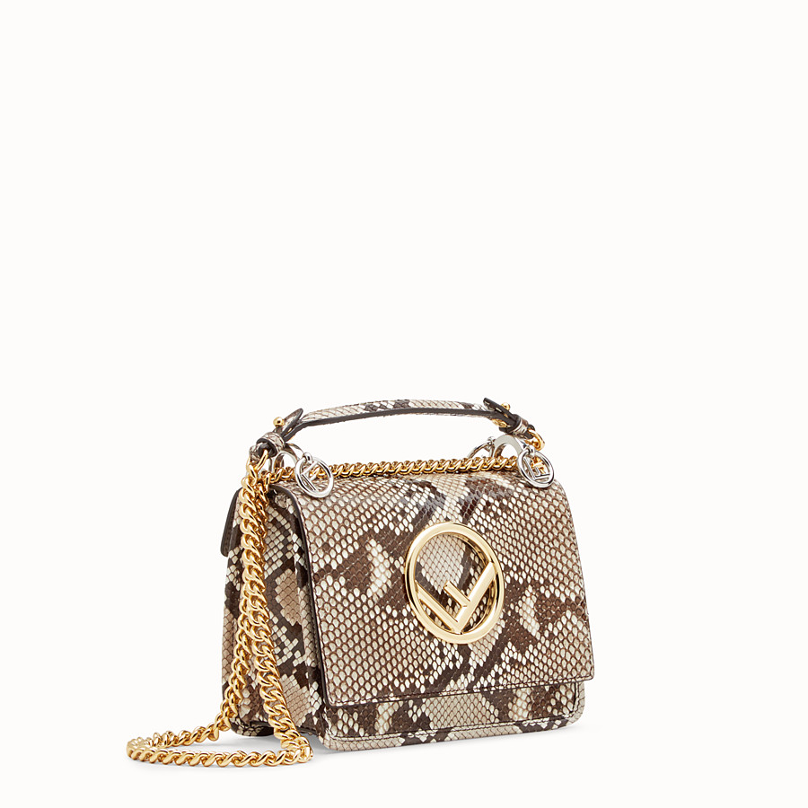 FENDI KAN I F SMALL - White python mini-bag - view 2 detail