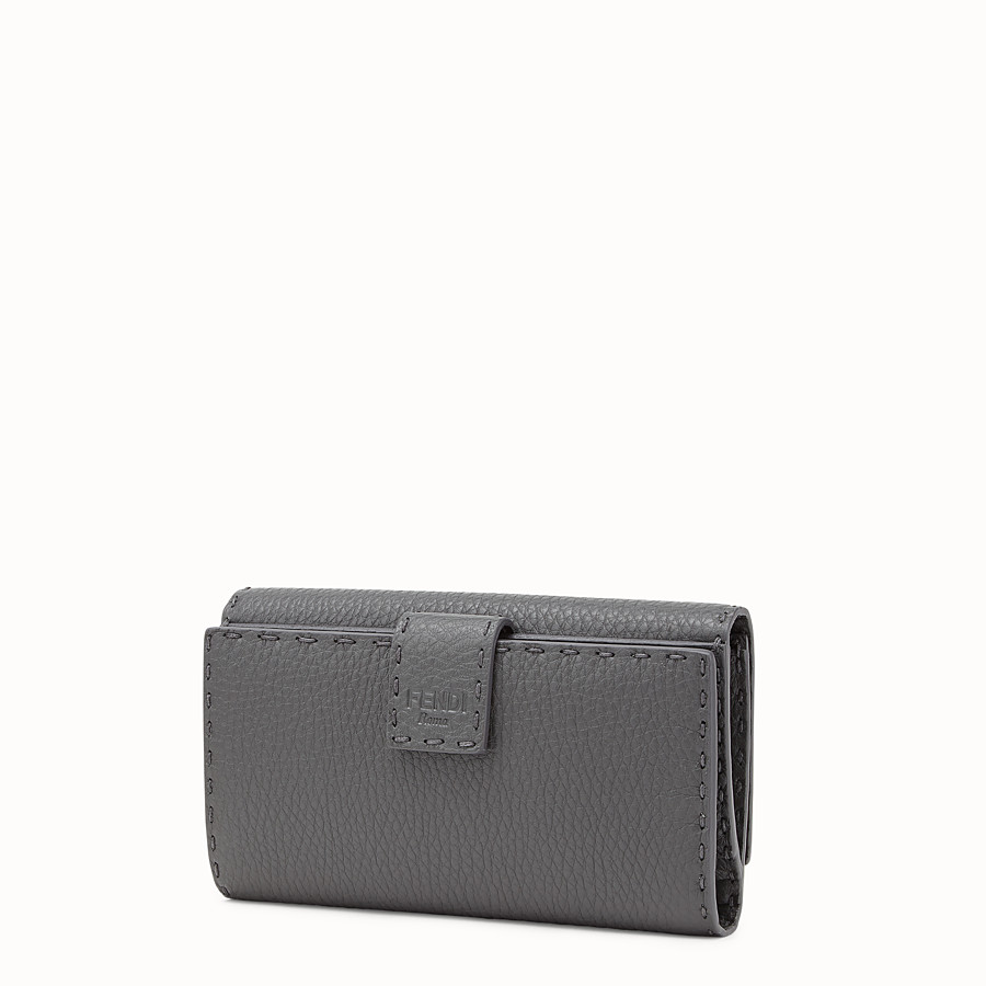 FENDI CONTINENTAL - Wallet in grey Roman leather - view 2 detail