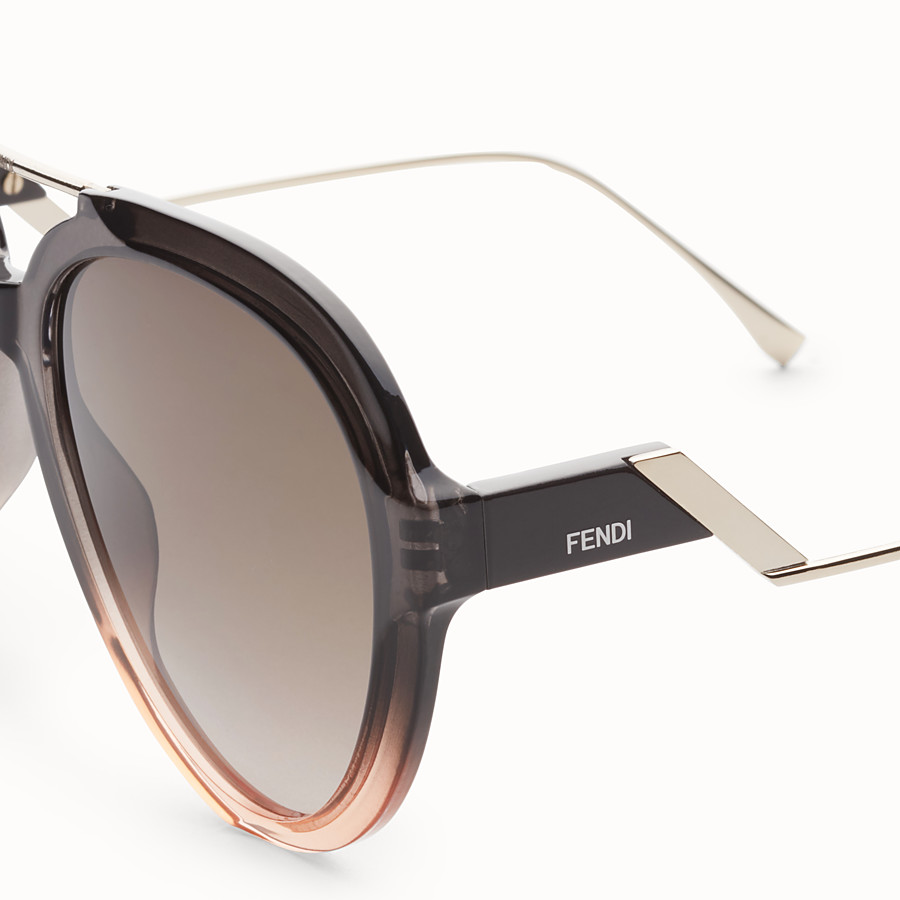FENDI TROPICAL SHINE - Gray and pink sunglasses - view 3 detail