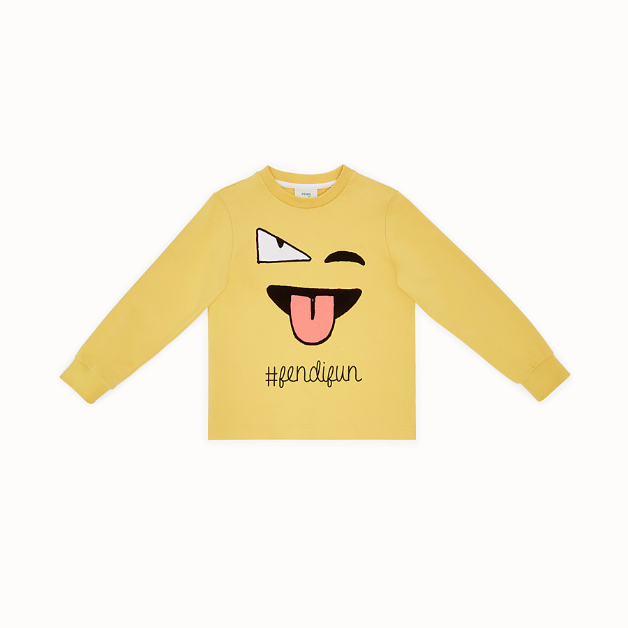 FENDI SWEATSHIRT - Jersey sweatshirt with print - view 1 detail