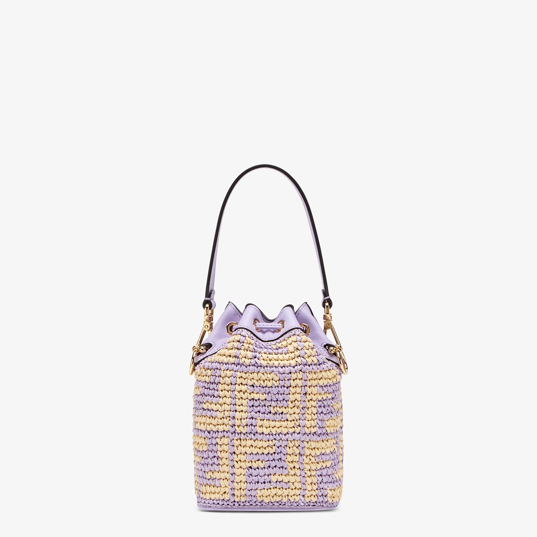 FENDI MON TRESOR - Lilac raffia mini-bag - view 4 detail
