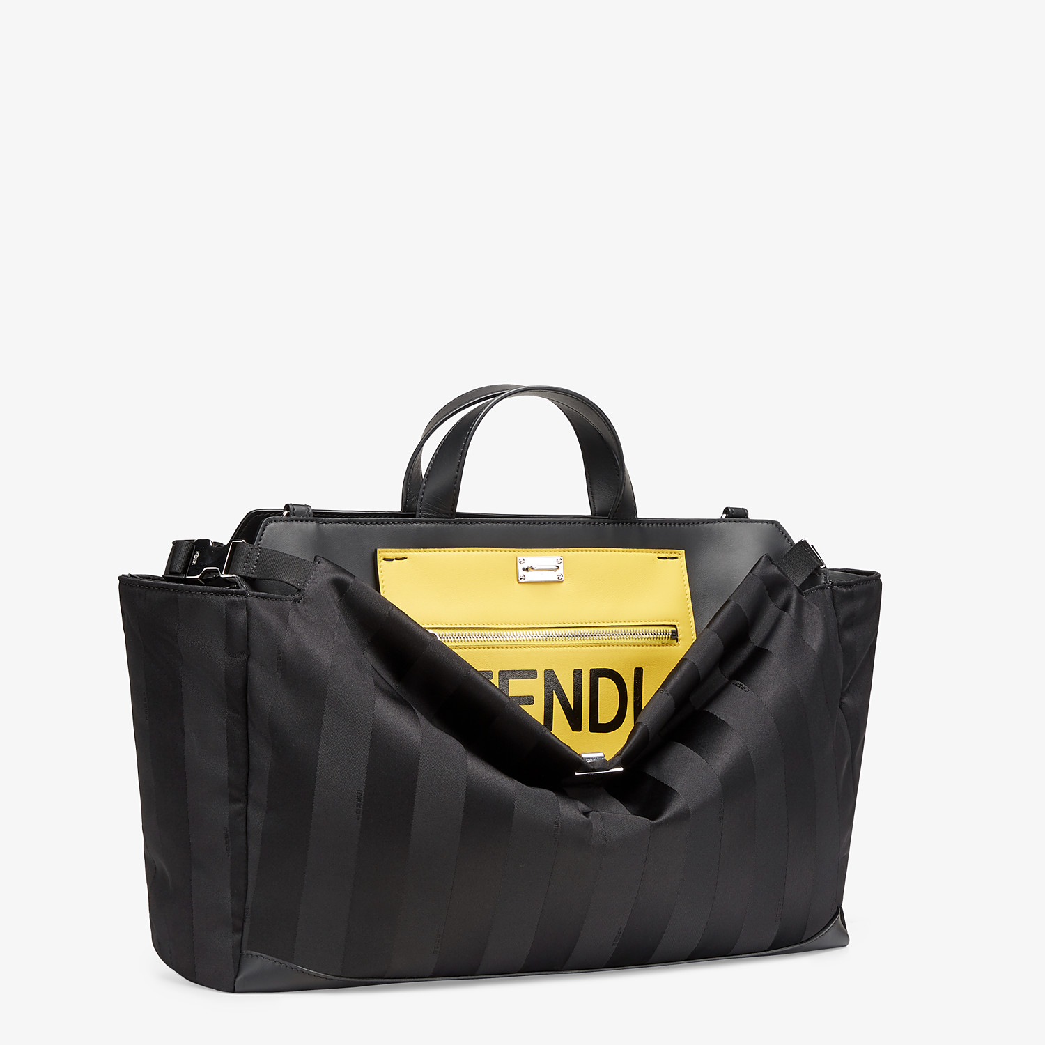 FENDI PEEKABOO ICONIC MEDIUM - Black nylon bag - view 2 detail