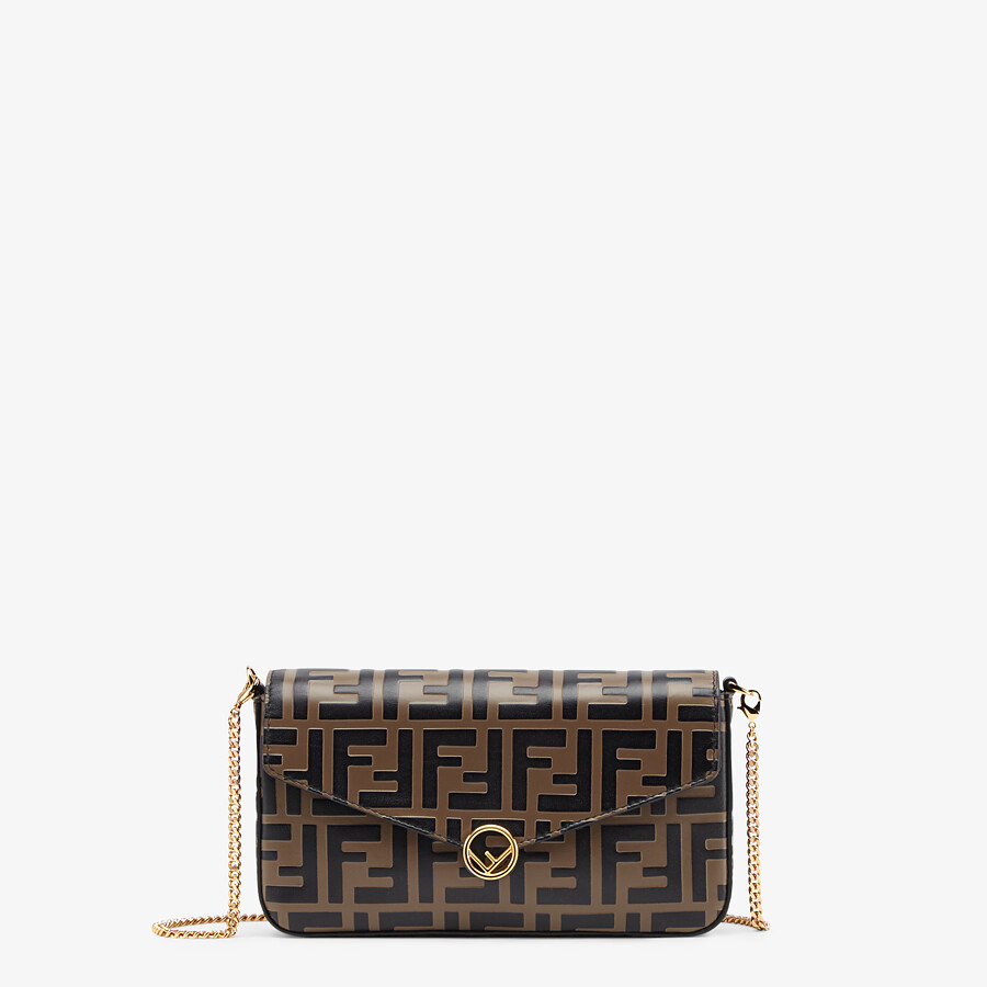 FENDI WALLET ON CHAIN WITH POUCHES - Brown leather mini-bag - view 1 detail