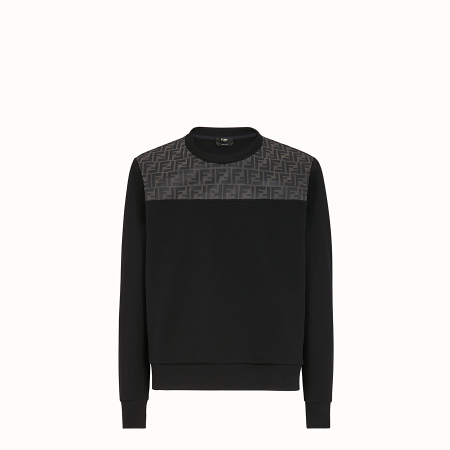FENDI SWEAT-SHIRT - Sweat-shirt en coton noir - view 1 detail