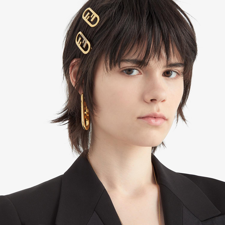 FENDI O'LOCK HAIR CLIP - Gold-colored hair clip - view 3 detail