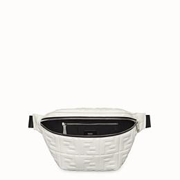 FENDI BELT BAG - White nappa leather belt bag - view 4 thumbnail