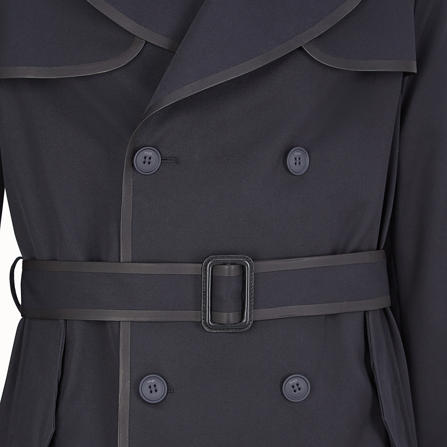 FENDI ABRIGO - Abrigo de gabardina azul - view 3 detail