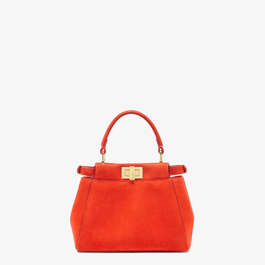 FENDI PEEKABOO ICONIC XS - Minibag in suede rosso - vista 4 dettaglio