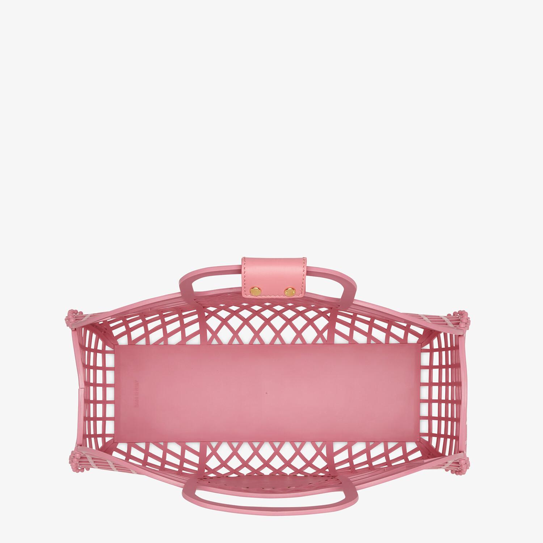 FENDI FENDI BASKET MEDIUM - Pink recycled plastic mini-bag - view 5 detail