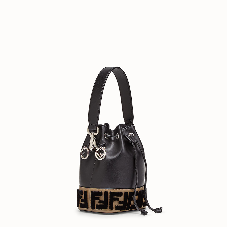 FENDI MON TRESOR - Black leather minibag - view 2 detail