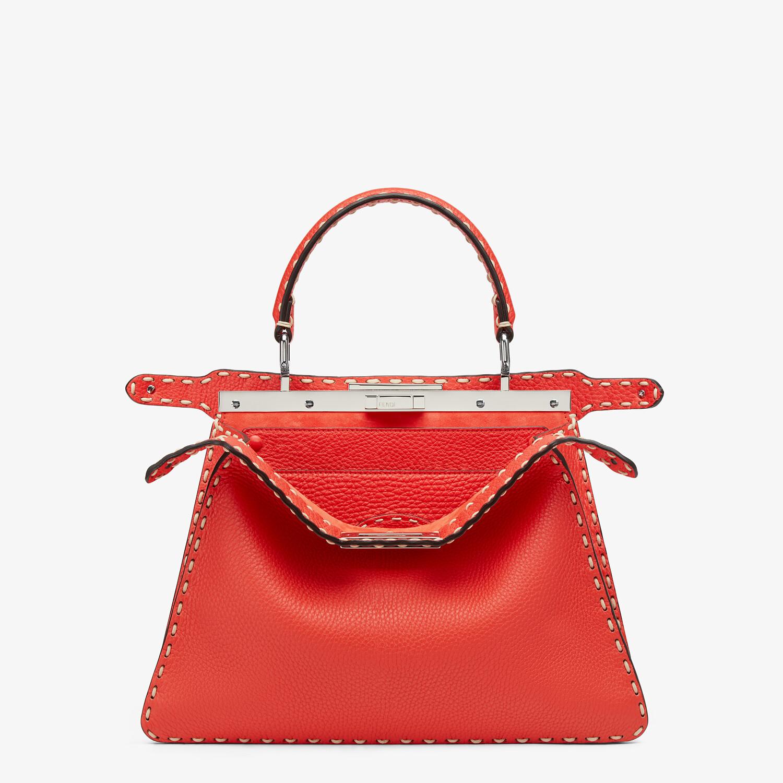 FENDI PEEKABOO ISEEU MEDIUM - Red full grain leather bag - view 2 detail