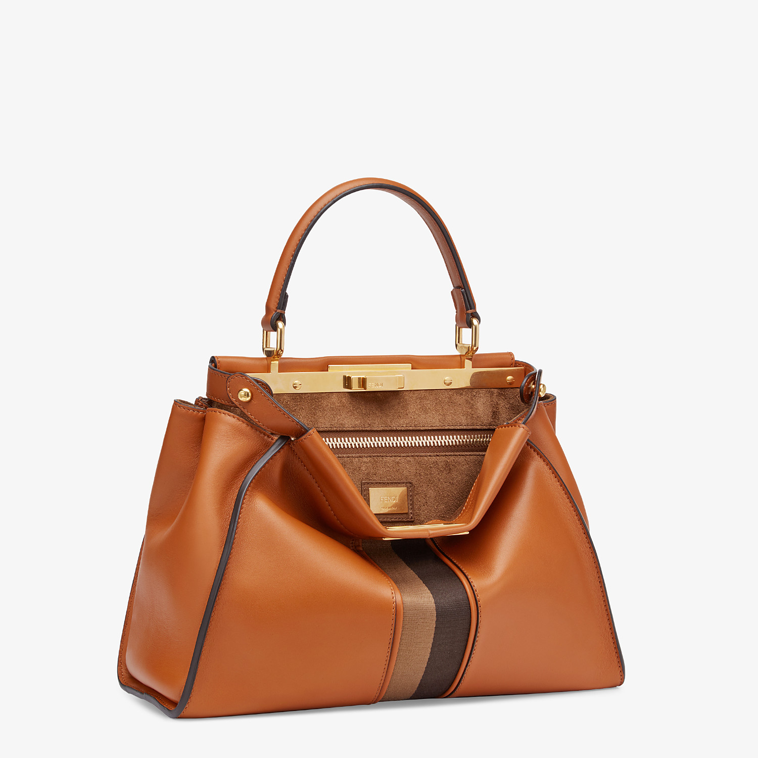 FENDI PEEKABOO ICONIC MEDIUM - Brown leather bag - view 2 detail