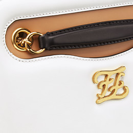FENDI KARLIGRAPHY POCKET - White leather bag - view 6 thumbnail