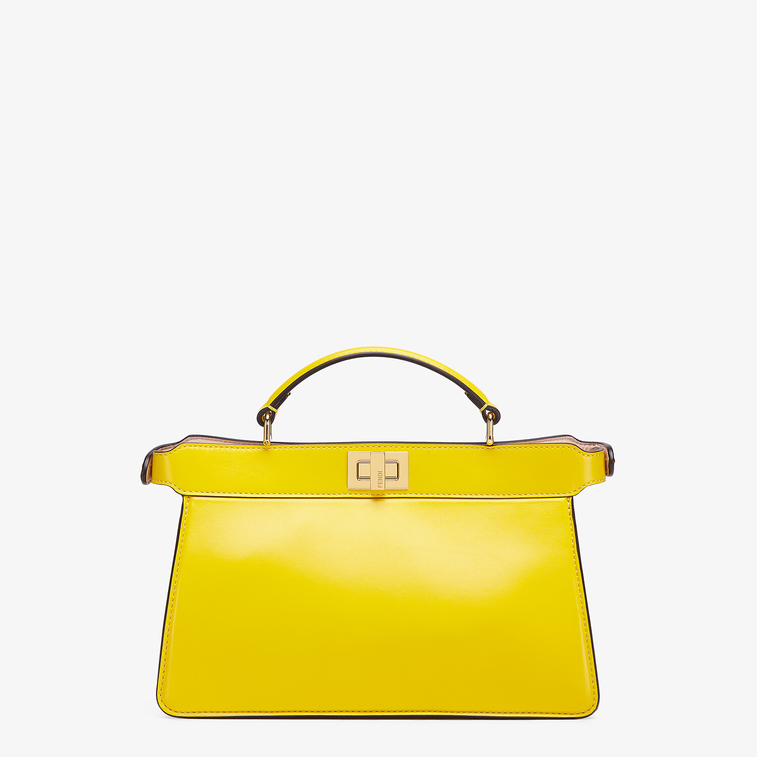 FENDI PEEKABOO ISEEU EAST-WEST - Yellow leather bag - view 3 detail
