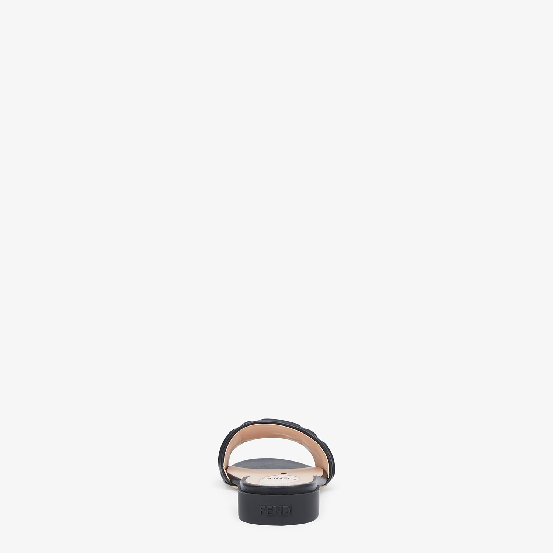 FENDI SIGNATURE - Black leather slides - view 3 detail