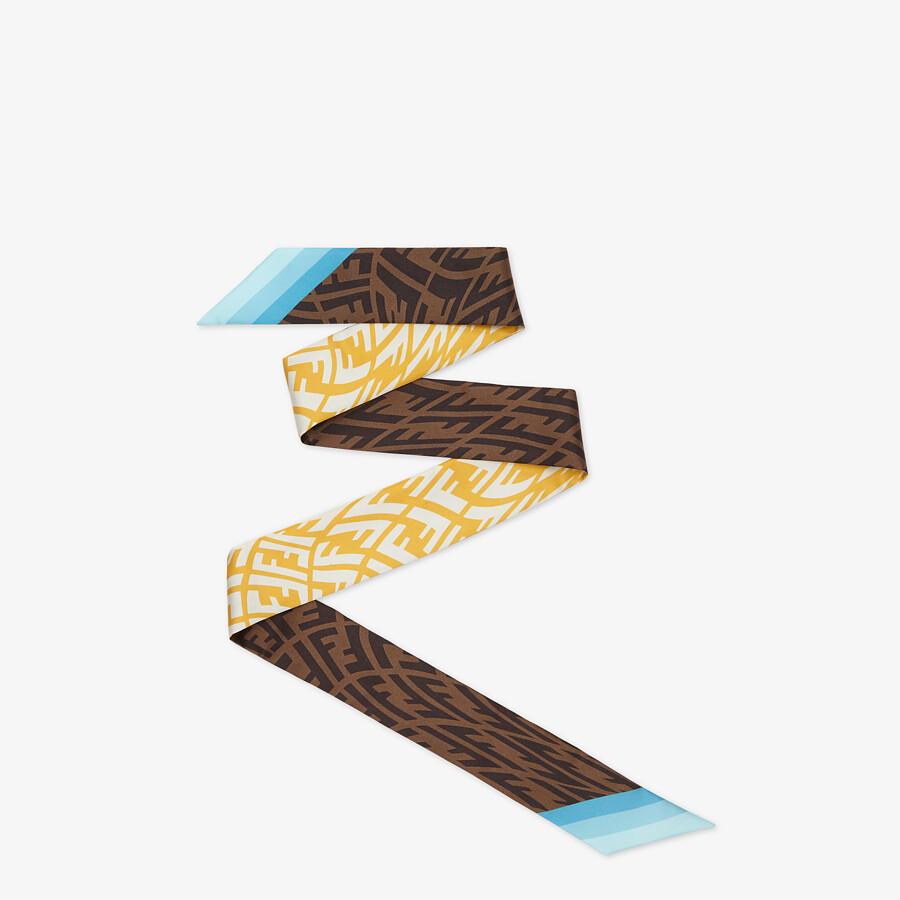 FENDI WRAPPY - Yellow twill bandeau - view 1 detail