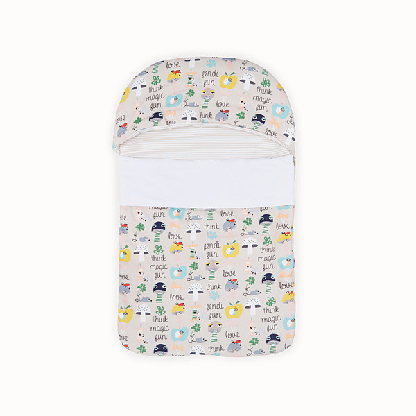 FENDI BUNX SLEEPING BAG - White, beige and multicolour jersey sleeping bag - view 1 small thumbnail