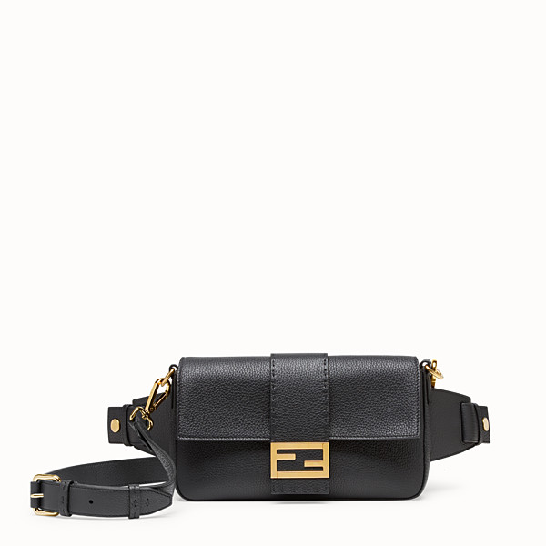 FENDI BAGUETTE - Black leather bag - view 1 small thumbnail