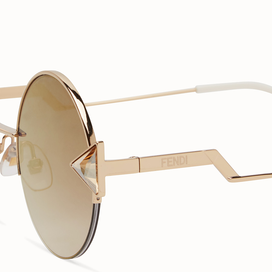 FENDI RAINBOW - Gold sunglasses. - view 3 detail