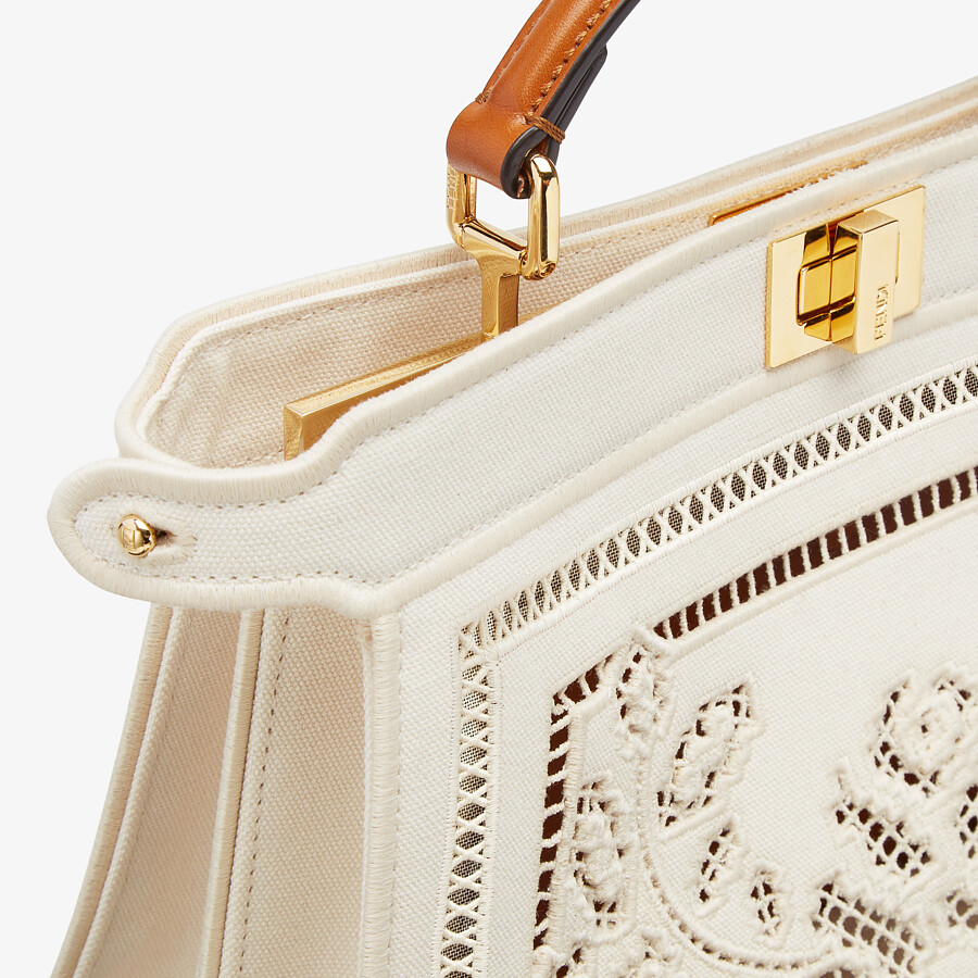 FENDI PEEKABOO ISEEU EAST-WEST - Canvas bag with embroidery - view 6 detail