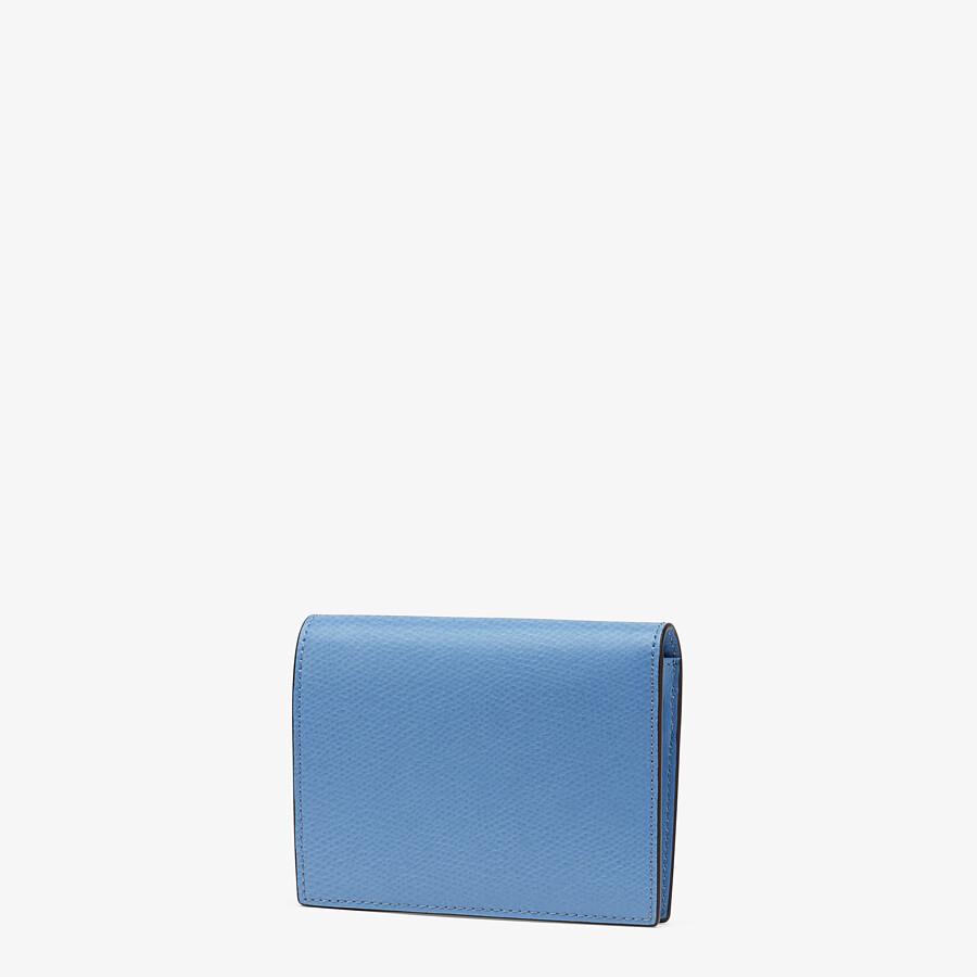 FENDI BIFOLD - Light blue leather compact wallet - view 2 detail